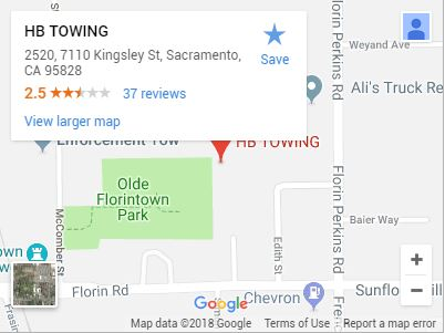 HB Towing on Google Maps